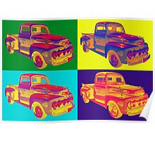 Colorful 1951 Ford F-1 Pickup Truck Pop Art  Poster