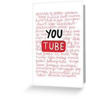 Youtubers collage Greeting Card