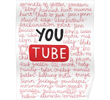 Youtubers collage Poster