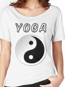 Yoga With Yin Yang Symbol Women's Relaxed Fit T-Shirt