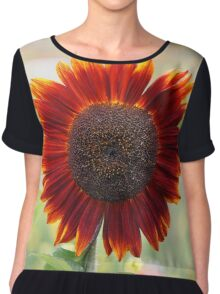 Red Sunflower Chiffon Top