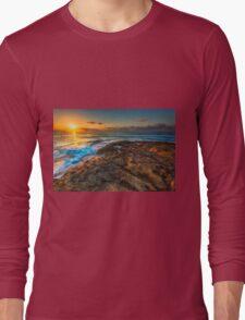 Sunrise and rocky shore Long Sleeve T-Shirt