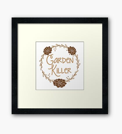 Garden killer Framed Print