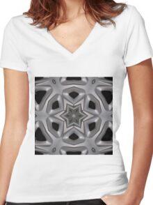 Wheel hub kaleidoscope Women's Fitted V-Neck T-Shirt