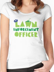 LAWN enforcement officer Women's Fitted Scoop T-Shirt