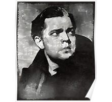 Orson Welles Vintage Hollywood Actor Poster