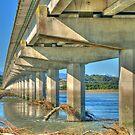 Bridge over the Hokitika River by Vickie Burt