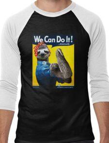 We Can Do It (...Eventually) Sloth Men's Baseball ¾ T-Shirt