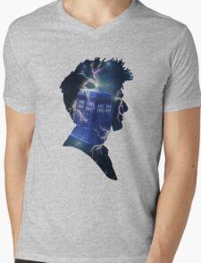 Doctor Who Traveling Tardis Mens V-Neck T-Shirt