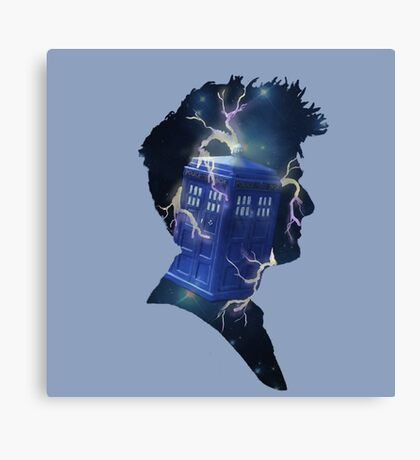 Doctor Who Traveling Tardis Canvas Print