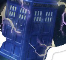 Doctor Who Traveling Tardis Sticker