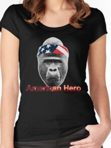Natural Born Hero : Harambe Women's Fitted Scoop T-Shirt
