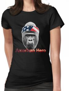 Natural Born Hero : Harambe Womens Fitted T-Shirt