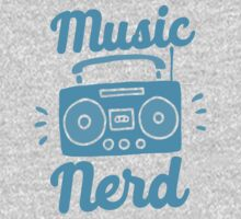 Music Nerd (with awesome 80s cassette speaker sound system) Kids Tee