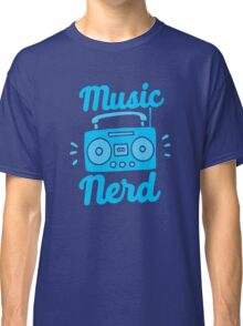 Music Nerd (with awesome 80s cassette speaker sound system) Classic T-Shirt