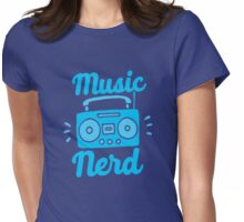 Music Nerd (with awesome 80s cassette speaker sound system) Womens Fitted T-Shirt