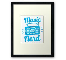 Music Nerd (with awesome 80s cassette speaker sound system) Framed Print