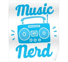 Music Nerd (with awesome 80s cassette speaker sound system) Poster