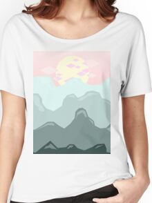 Blue Mountains, Pink Sky Women's Relaxed Fit T-Shirt