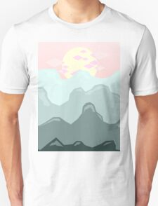 Blue Mountains, Pink Sky Unisex T-Shirt
