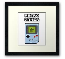 RETRO GAMER HANDHELD Game Console Framed Print