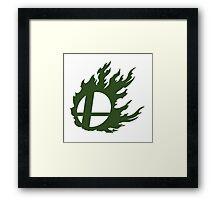 Green Smash Ball Framed Print