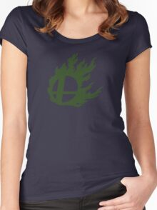 Green Smash Ball Women's Fitted Scoop T-Shirt
