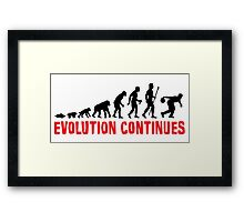 Ten Pin Bowling Evolution Continues Framed Print