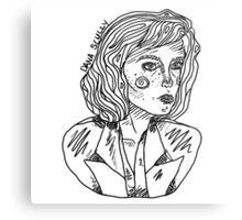 Scully Outline Metal Print