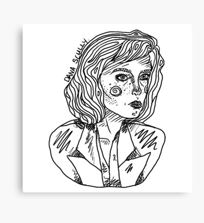 Scully Outline Canvas Print