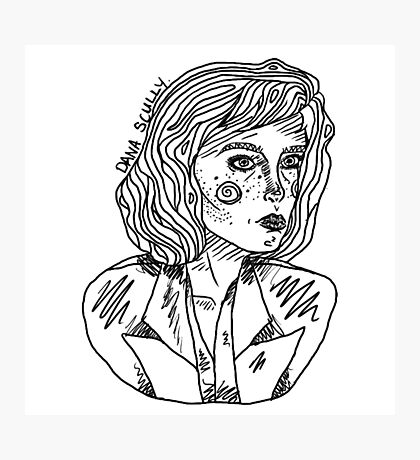 Scully Outline Photographic Print