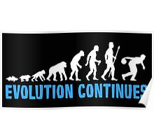 Evolution Of Ten Pin Bowling Funny T Shirt Poster