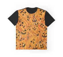 Pumpkin carving collage Graphic T-Shirt