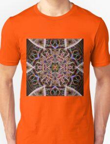 Abstract textured mandala Unisex T-Shirt