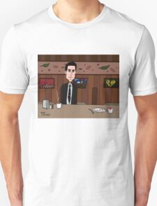 Agent Dale Cooper deduces at the RR Diner Unisex T-Shirt