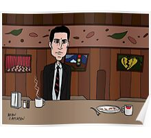 Agent Dale Cooper deduces at the RR Diner Poster