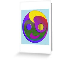 Face ZenHappy Greeting Card