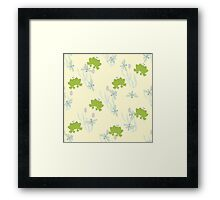 Childrens background with leaguetime Framed Print