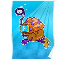 A Muffin Diving Poster