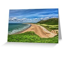 Rhossili Bay On The Gower Peninsula Greeting Card