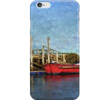 Boats At Their Moorings iPhone Case/Skin