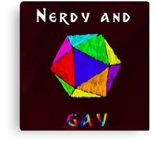 Nerdy and Gay Canvas Print