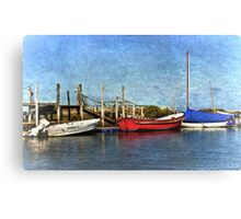 Boats At Their Moorings Canvas Print