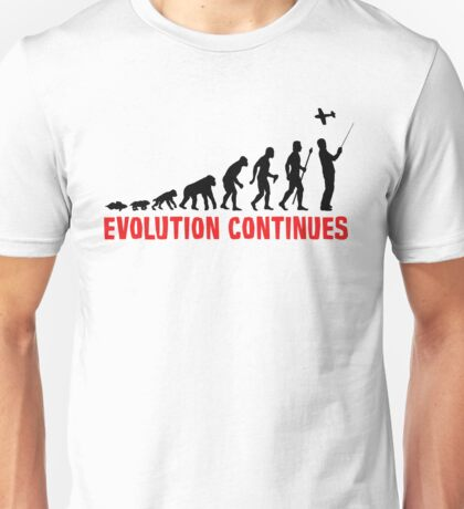 RC Radio Controlled Aircraft Evolution Continues Unisex T-Shirt