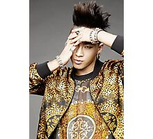 Taeyang with gold jacket Photographic Print