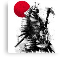 Samurai Skull - Love guitar Canvas Print