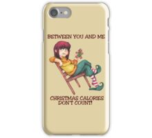 Christmas Calories Don't Count iPhone Case/Skin