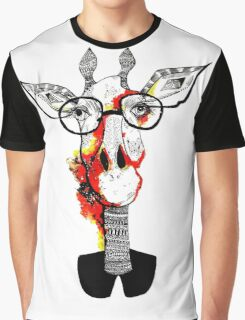 Hipster giraffe is hipster Graphic T-Shirt