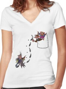 The Great Pocket Detective Women's Fitted V-Neck T-Shirt