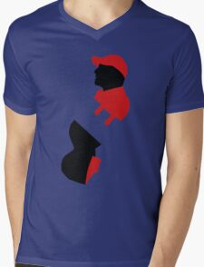 Mr Robot E Corp Mens V-Neck T-Shirt